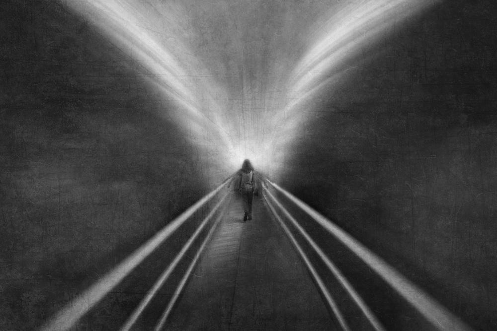 A piece of fine art art photography titled Into the Wing of Light by Ekkachai Khemkum