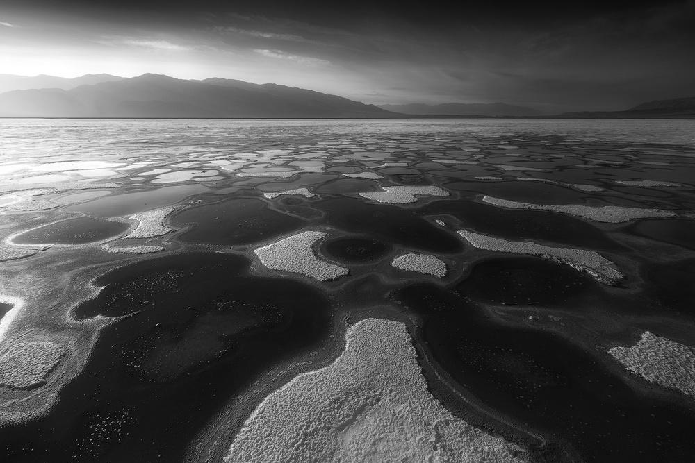 Salt Patches in Badlands