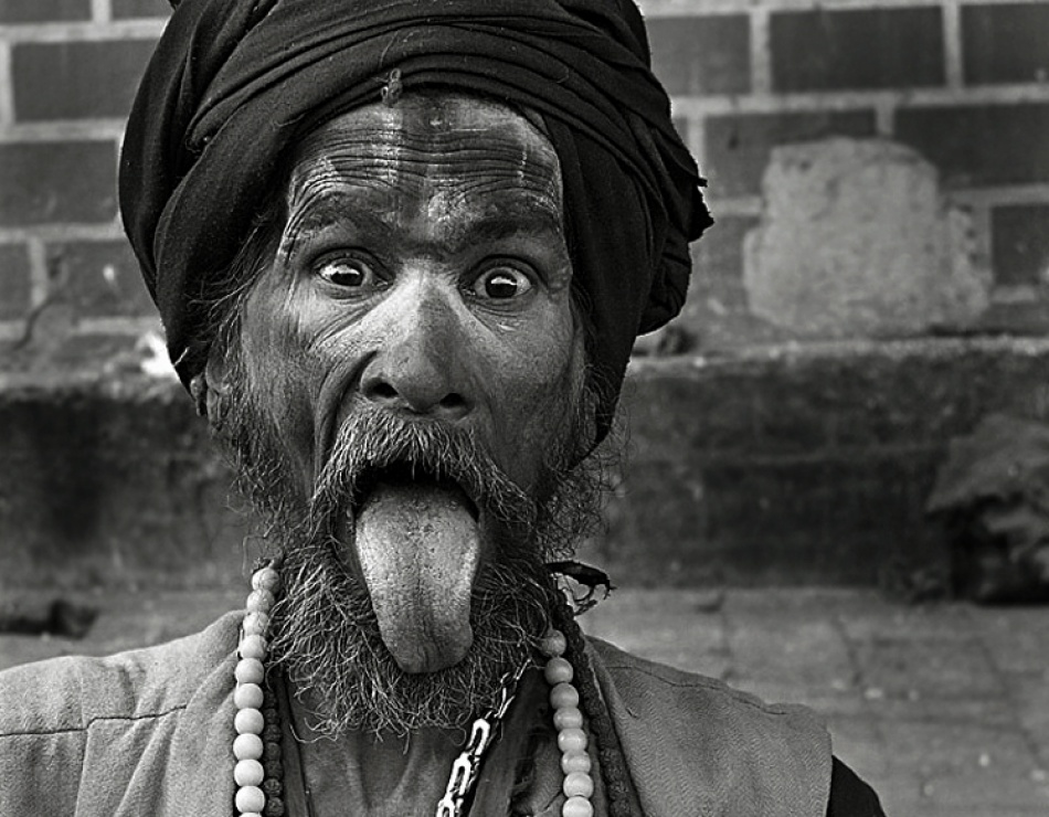 A piece of fine art art photography titled Sadhu Shivaji Bush :-) by Helmut Schadt