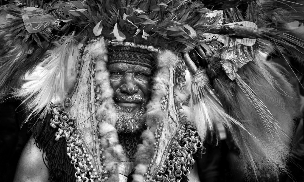 A piece of fine art art photography titled The Proud Chief by Norbert Becke