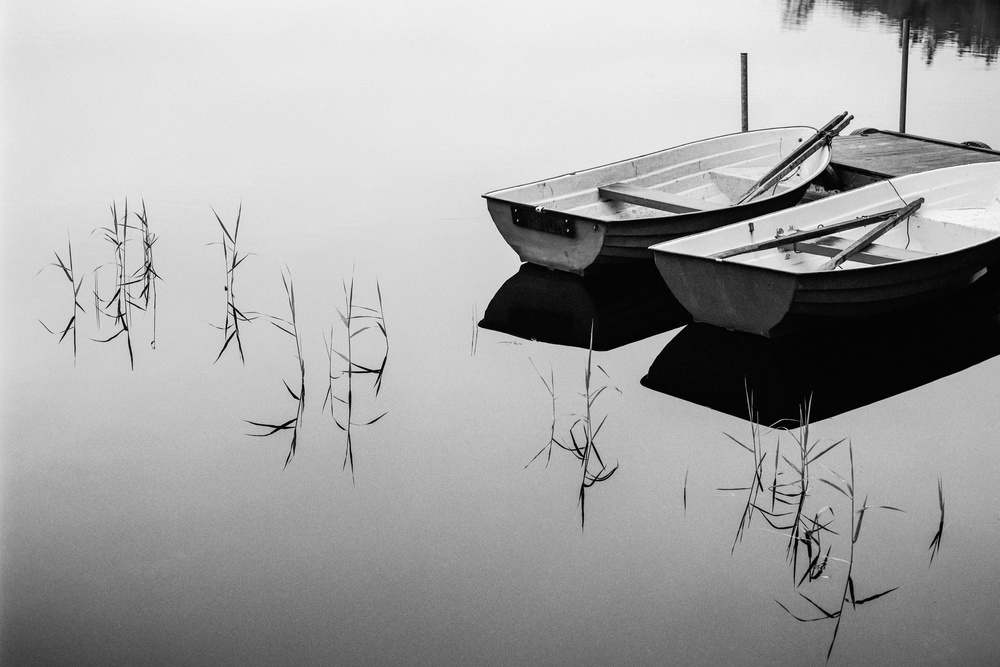A piece of fine art art photography titled Morning by the Lake by Mats Persson