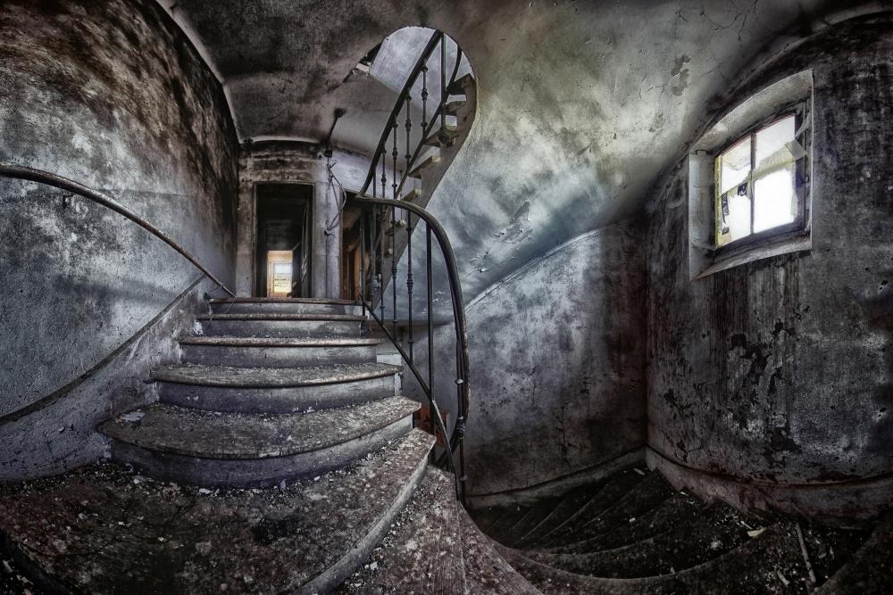 A piece of fine art art photography titled Abandoned House by Francois Casanova