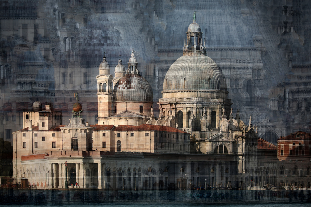 A piece of fine art art photography titled Santa Maria Della Salute by Hans-Wolfgang Hawerkamp