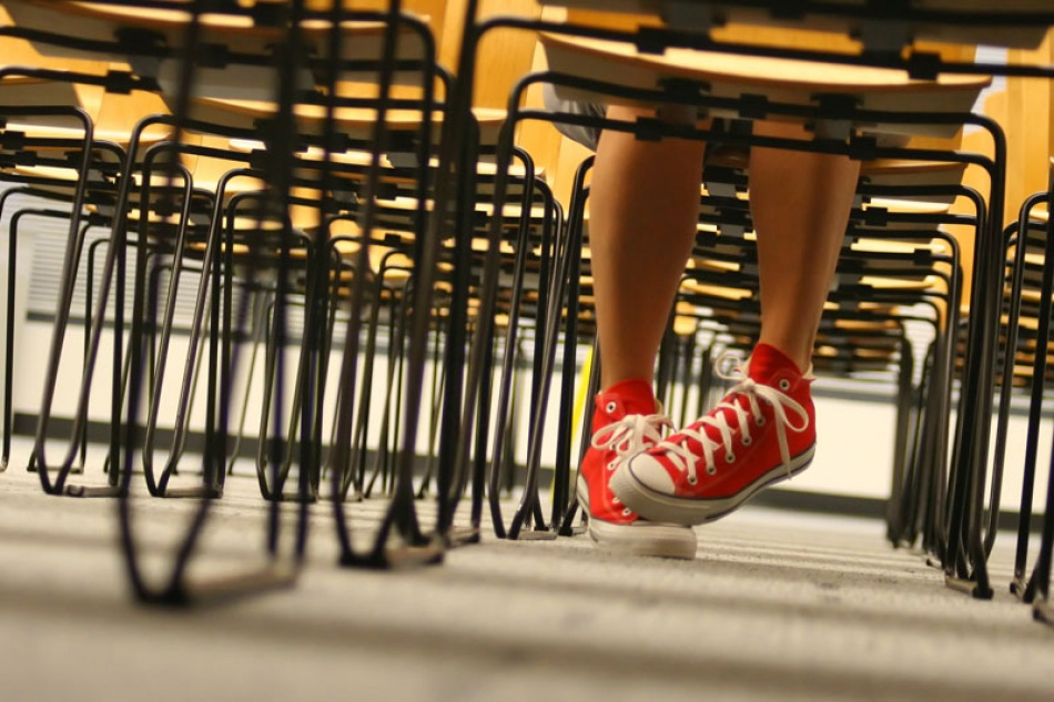 A piece of fine art art photography titled Red Chucks by Jason Kravitz
