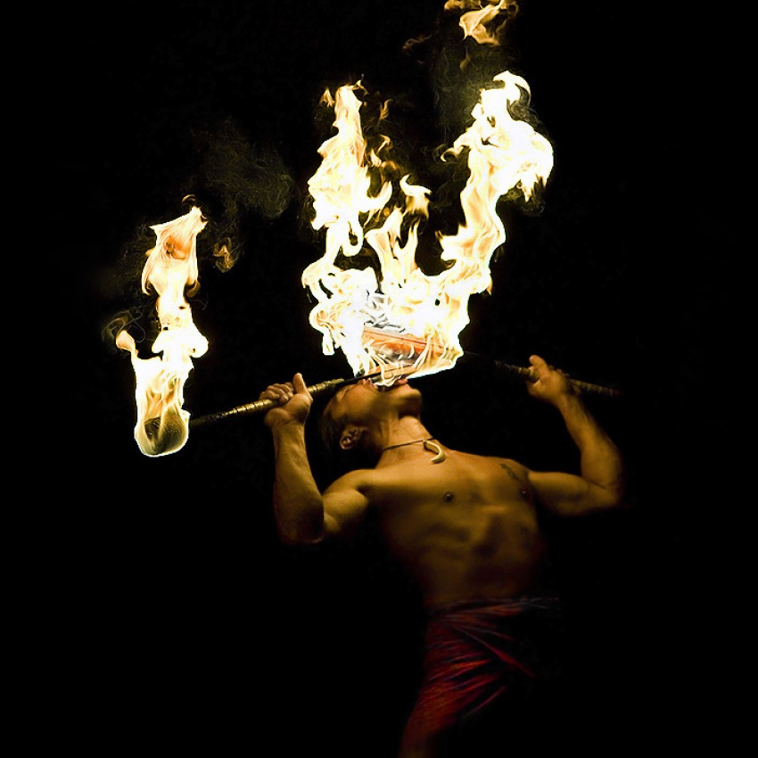 A piece of fine art art photography titled FireLight by NJ Sabs