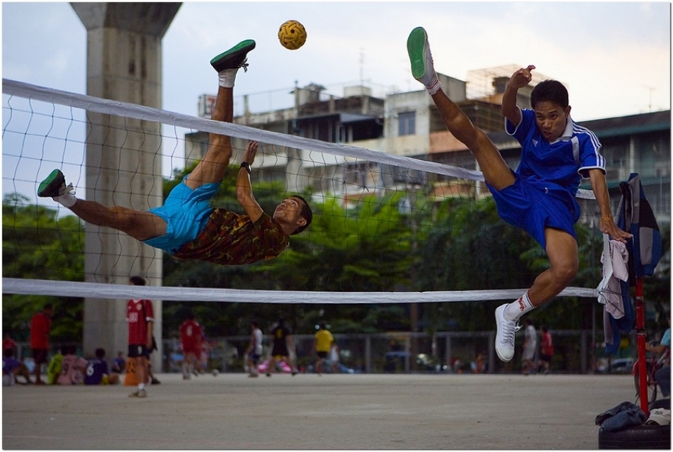 A piece of fine art art photography titled Takraw by Koen Pieters