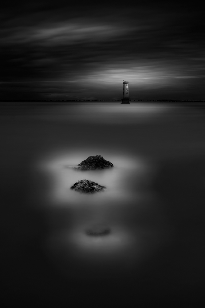 A piece of fine art art photography titled North Bull Lighthouse by Hugo Borges