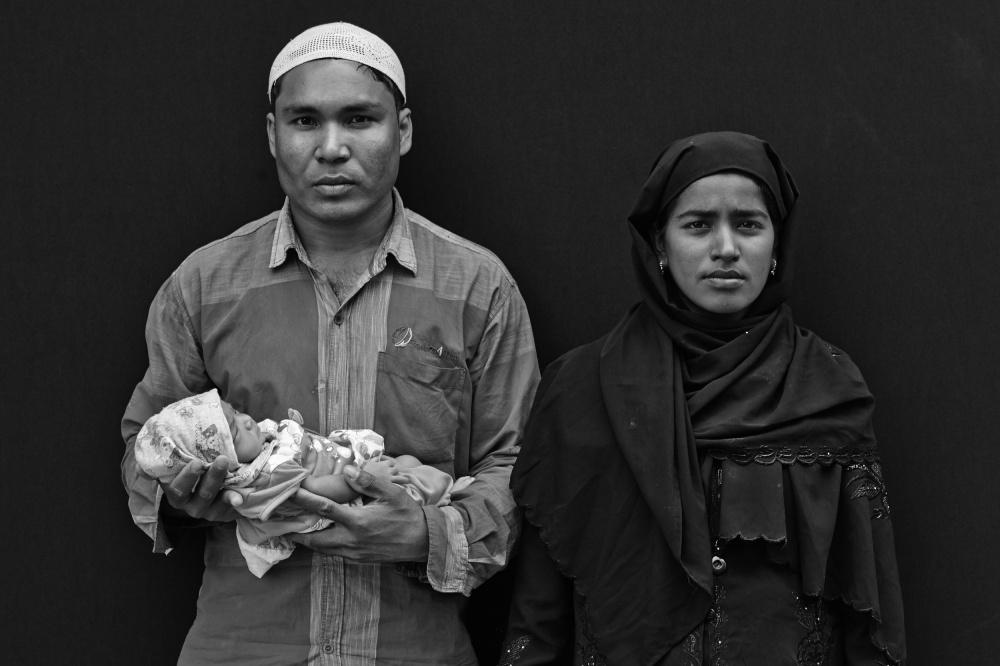 A piece of fine art art photography titled Rohingya Refugees In Kathmandu, Nepal by Jan Møller Hansen