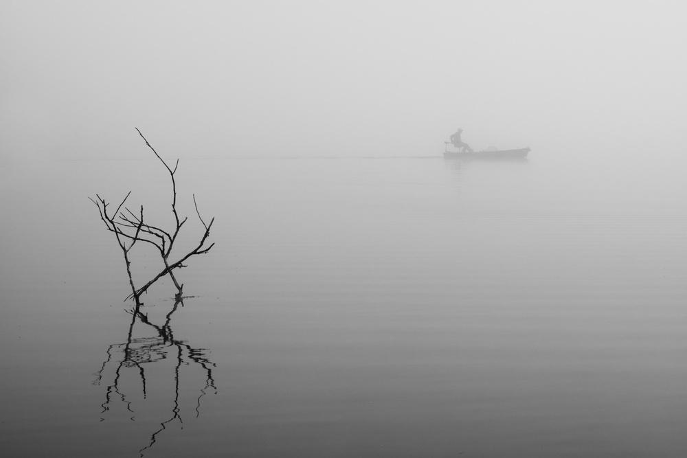 A piece of fine art art photography titled Foggy Day-2 by 李从军 / Austin Li