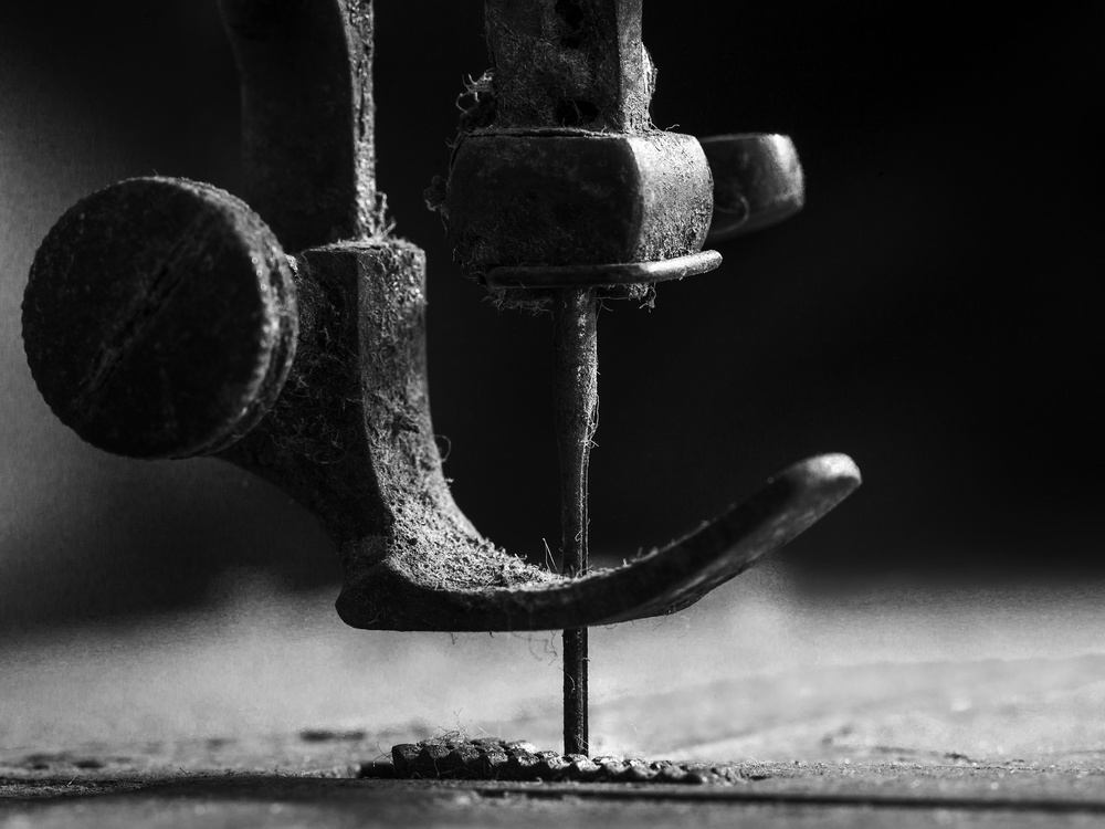 A piece of fine art art photography titled Element Sewing Machine by Johanes Januar