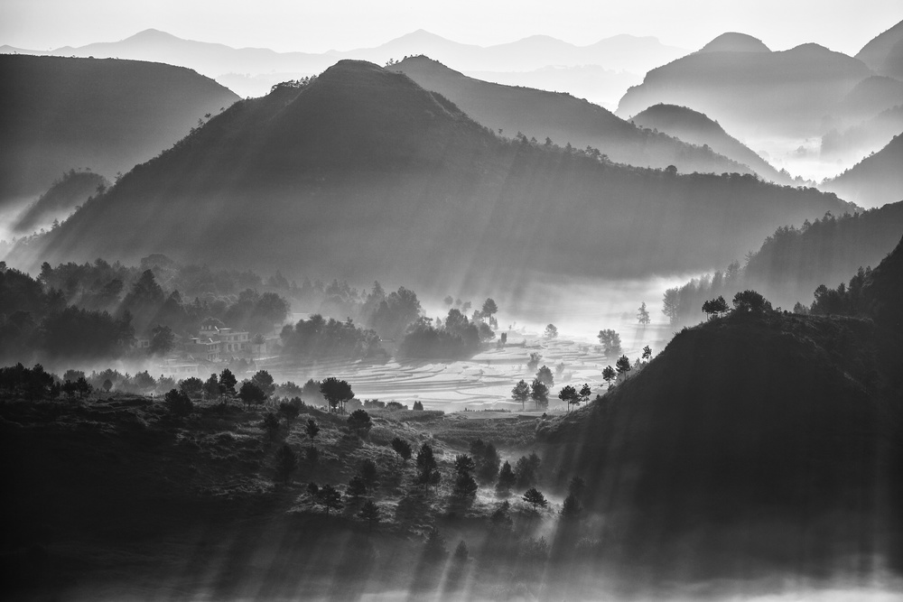 A piece of fine art art photography titled Misty Sea of Clouds by Zhou Chengzhou