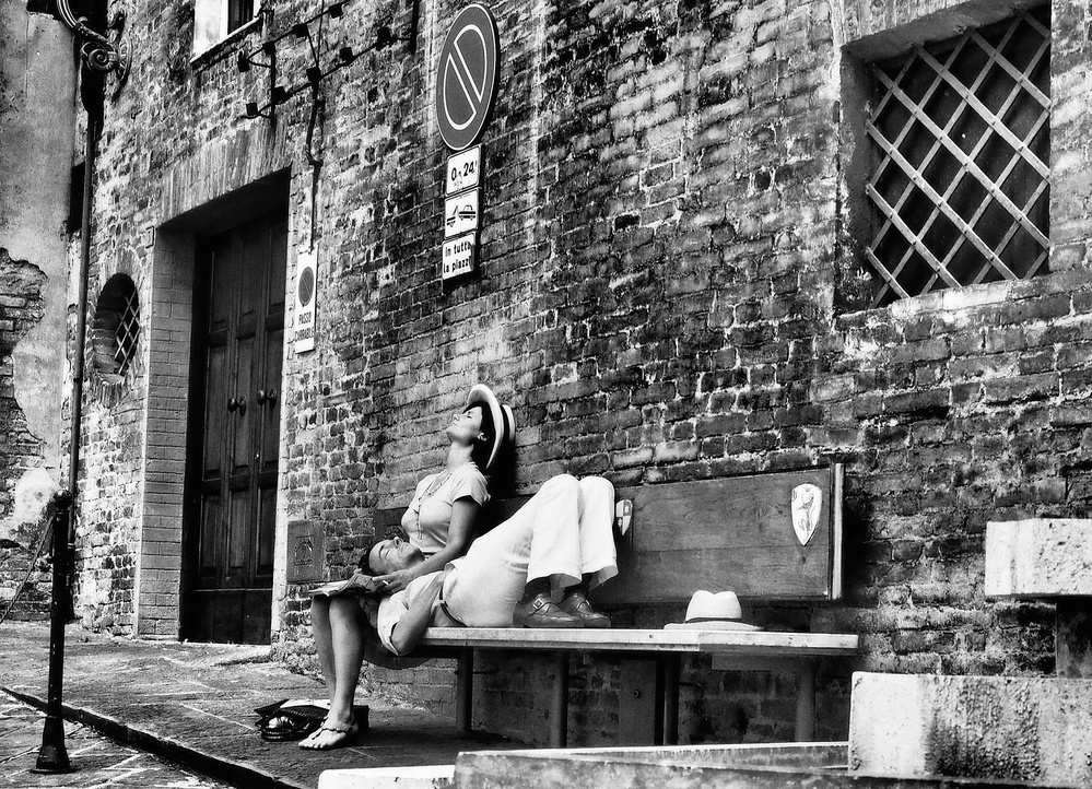 A piece of fine art art photography titled English Couple In Italy by Vincenzo Pascale
