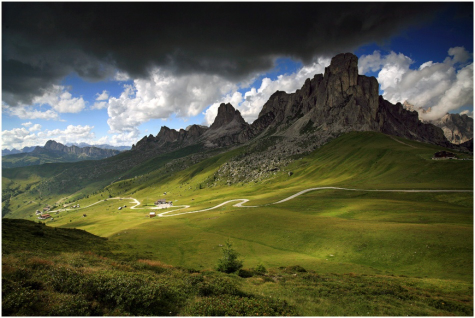 A piece of fine art art photography titled Strolling On the Dolomites by Robert Strahinjic