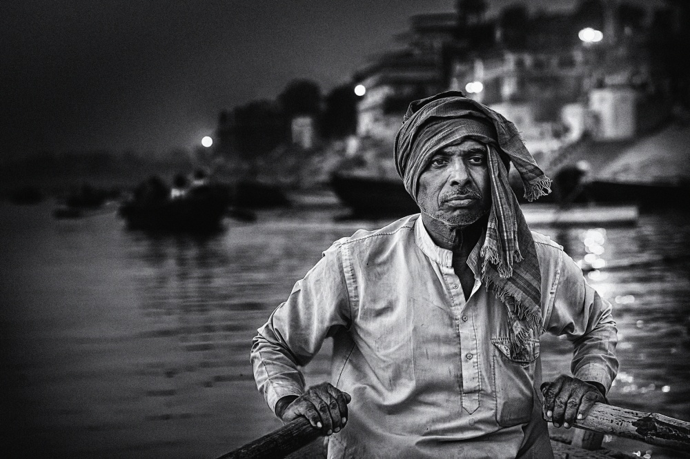 A piece of fine art art photography titled Nights On the Ganges by Piet Flour