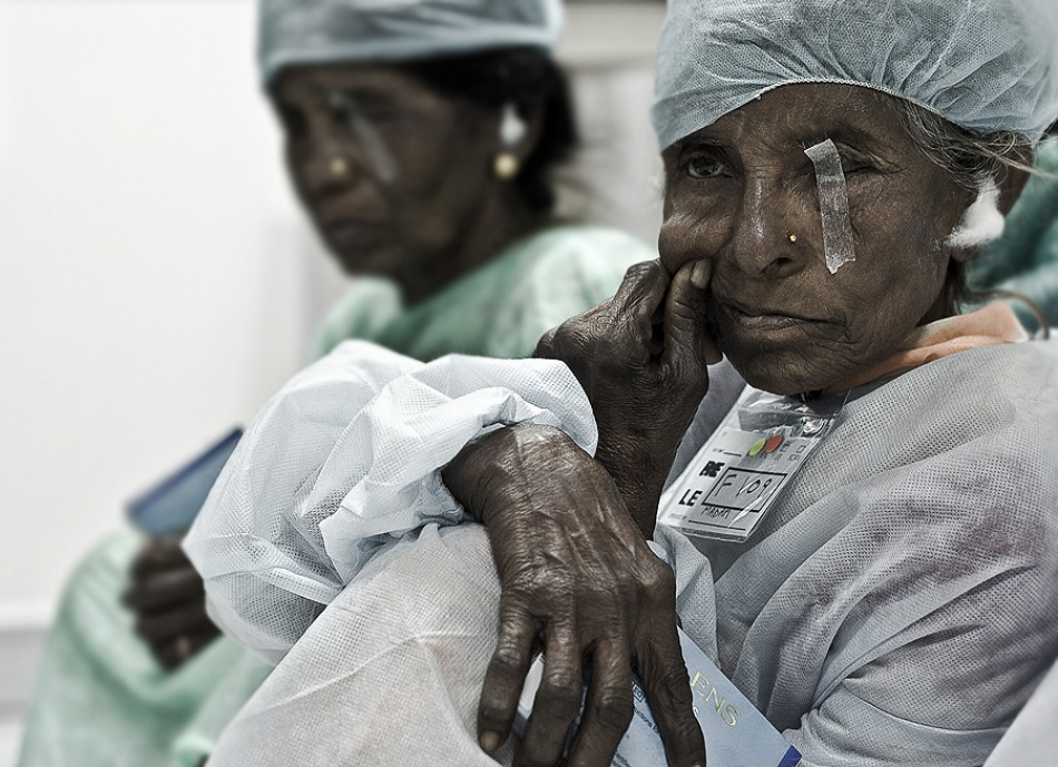 A piece of fine art art photography titled Eye Surgery by yogesh chiplunkar