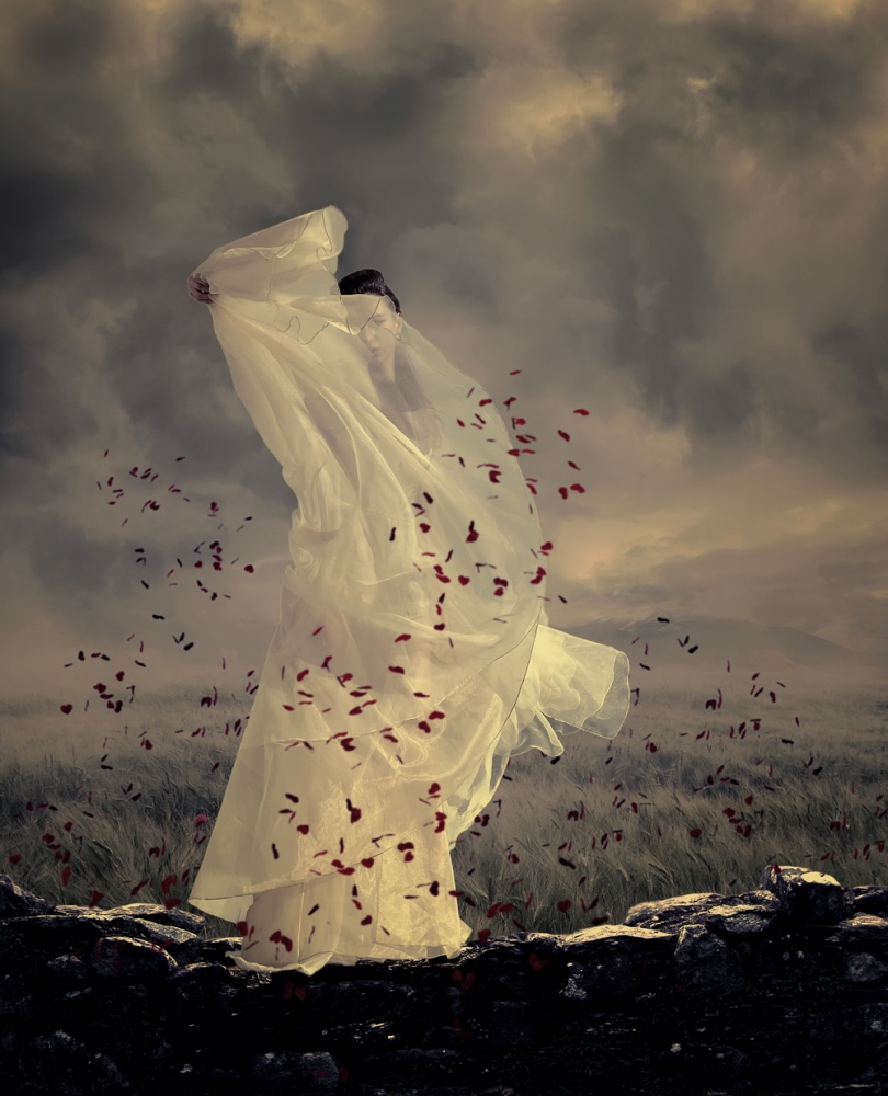 A piece of fine art art photography titled Goddess of the Wind by hukma art