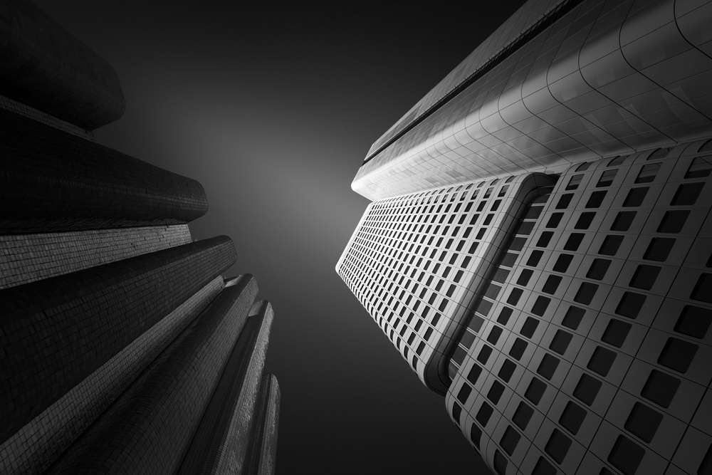 A piece of fine art art photography titled Silver Tower by Andre Struik