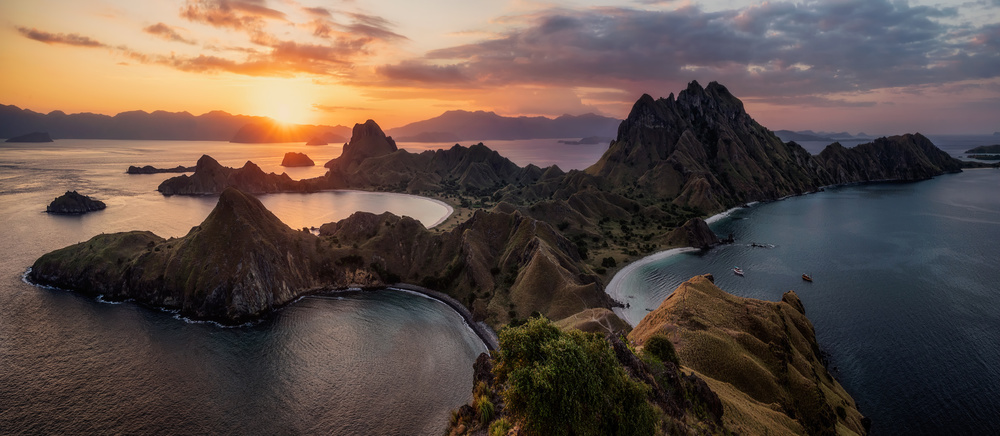 A piece of fine art art photography titled Land of Komodo by Phil Green