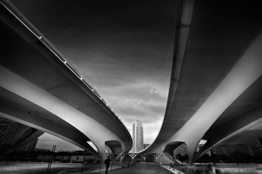 A piece of fine art art photography titled Under the Bridge by Santiago Pascual Buye