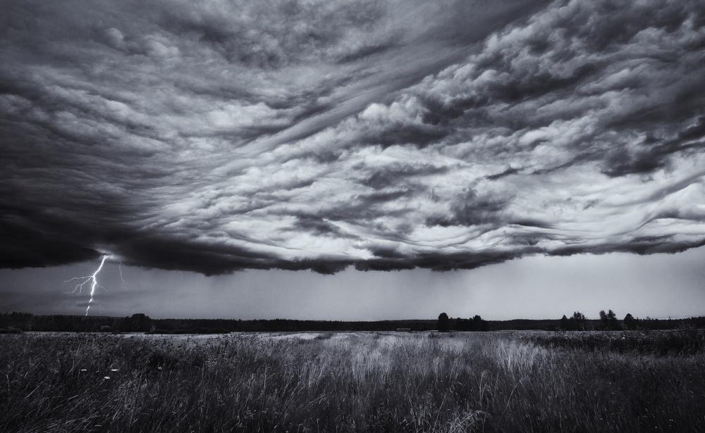 A piece of fine art art photography titled Edge of the Storm by Joni Niemelä