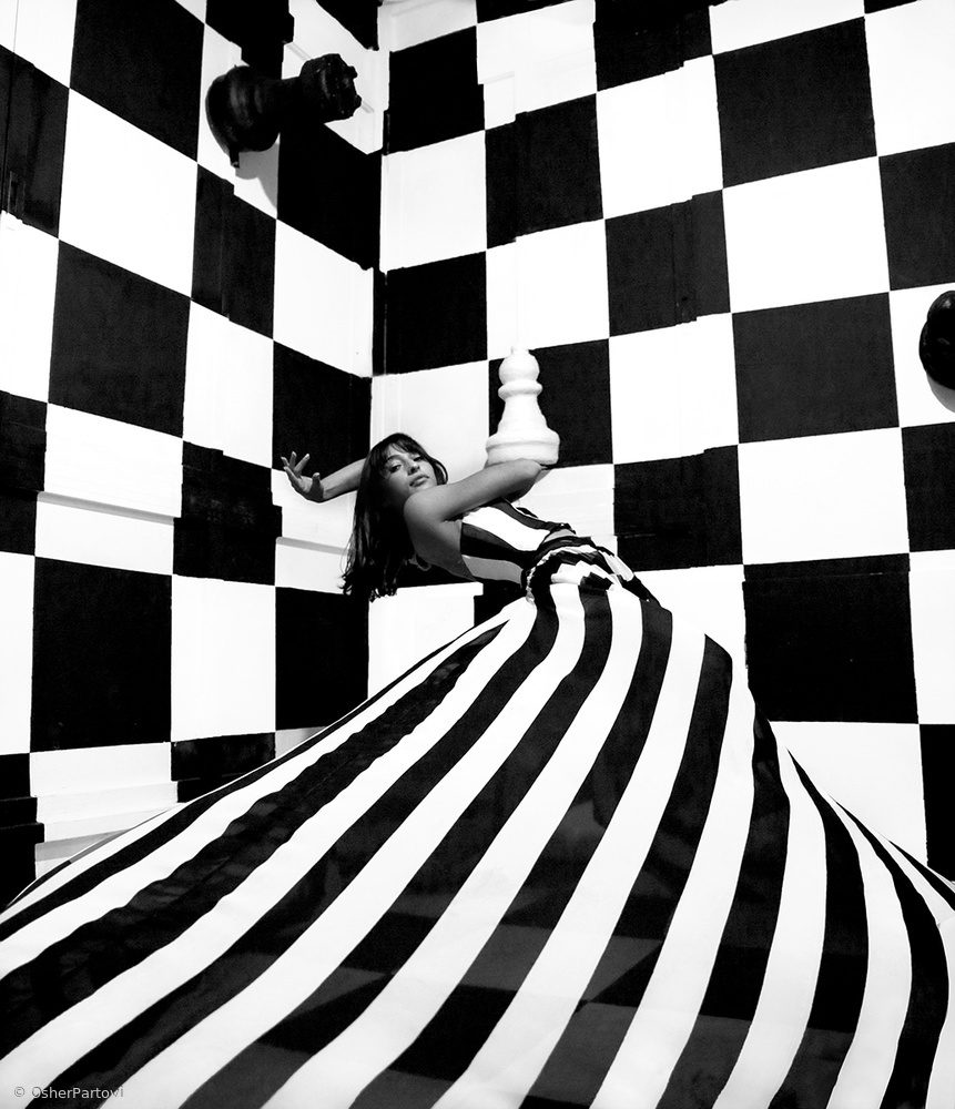 """View this piece of fine art photography titled """"Black & white  Synergy"""" by Osher Partovi"""