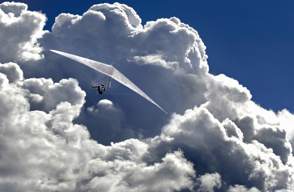 A piece of fine art art photography titled Heaven Can Wait by Matjaz Cater