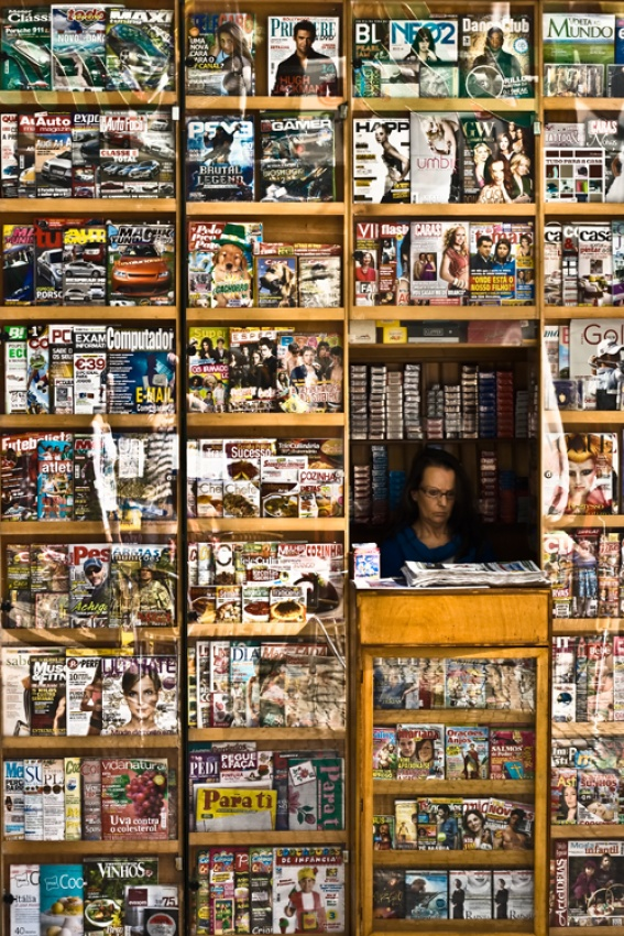 A piece of fine art art photography titled My Life As a Magazine by Tiago Ribeiro
