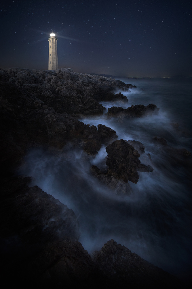 A piece of fine art art photography titled The Lighthouse by Chris Kaddas