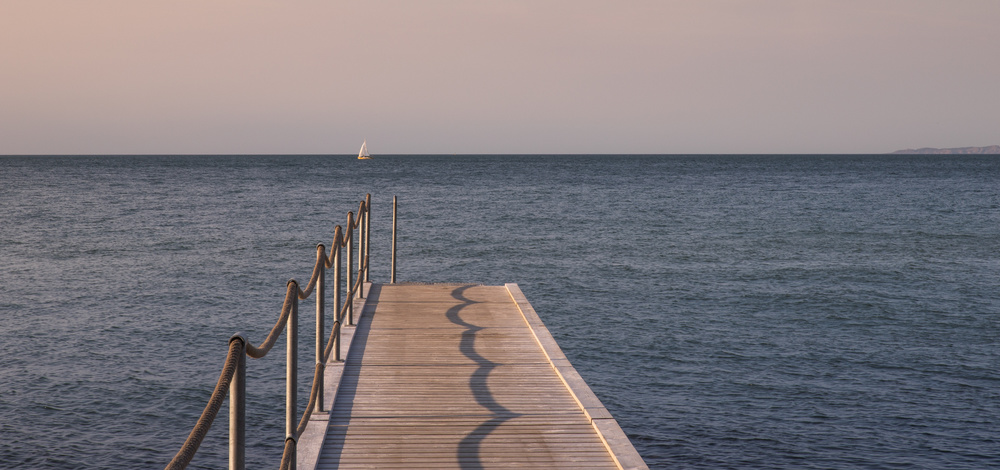 A piece of fine art art photography titled Sailing Away by Dirk Kersten