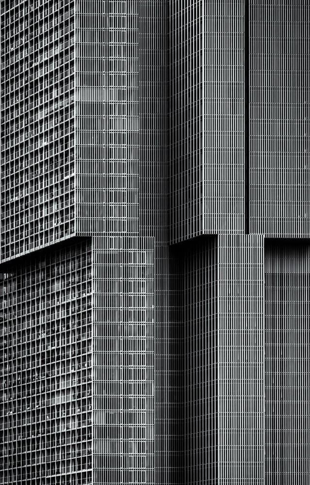 A piece of fine art art photography titled De Rotterdam by theo huybrechts