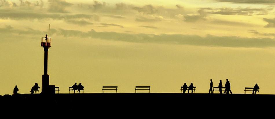 A piece of fine art art photography titled  Walk In the Evening by Vedran Vidak