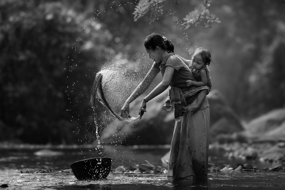 A piece of fine art art photography titled Laundry by asit