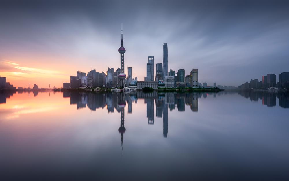 A piece of fine art art photography titled Good Morning Shanghai by Jesús M. García