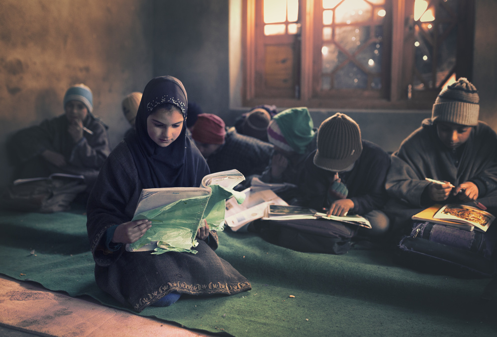 A piece of fine art art photography titled Reading by Haitham AL Farsi