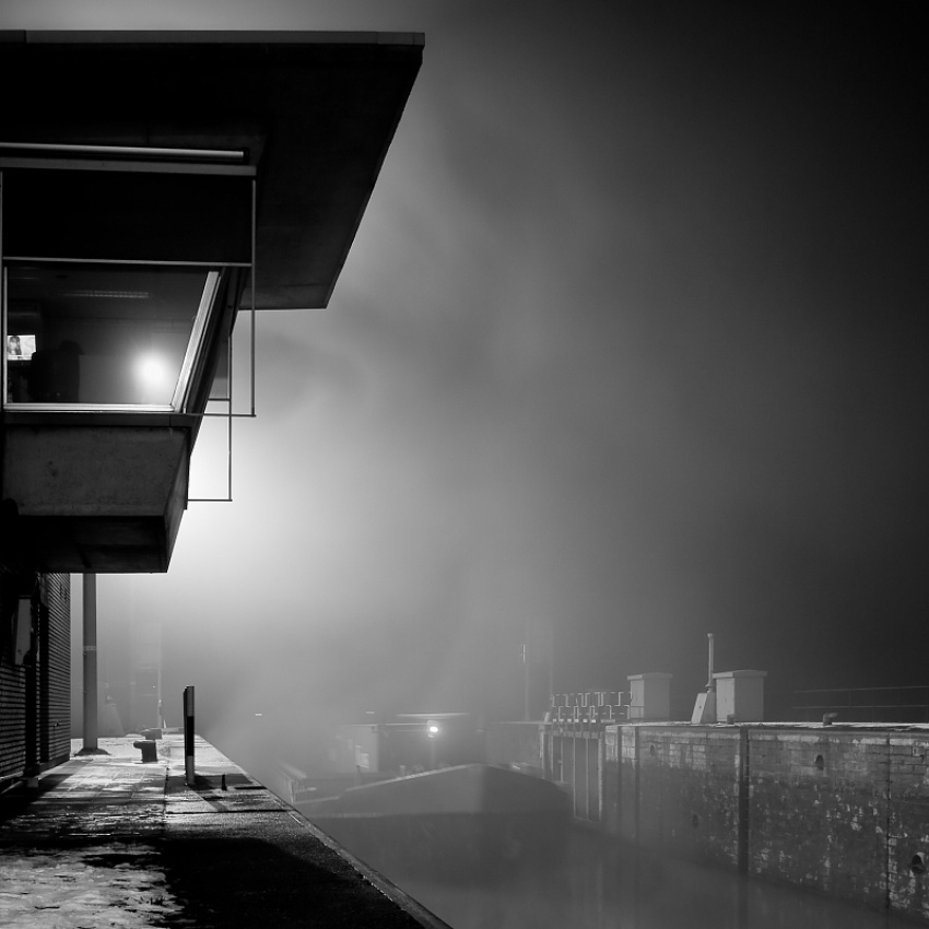 A piece of fine art art photography titled Out of the Fog by Tim Corbeel