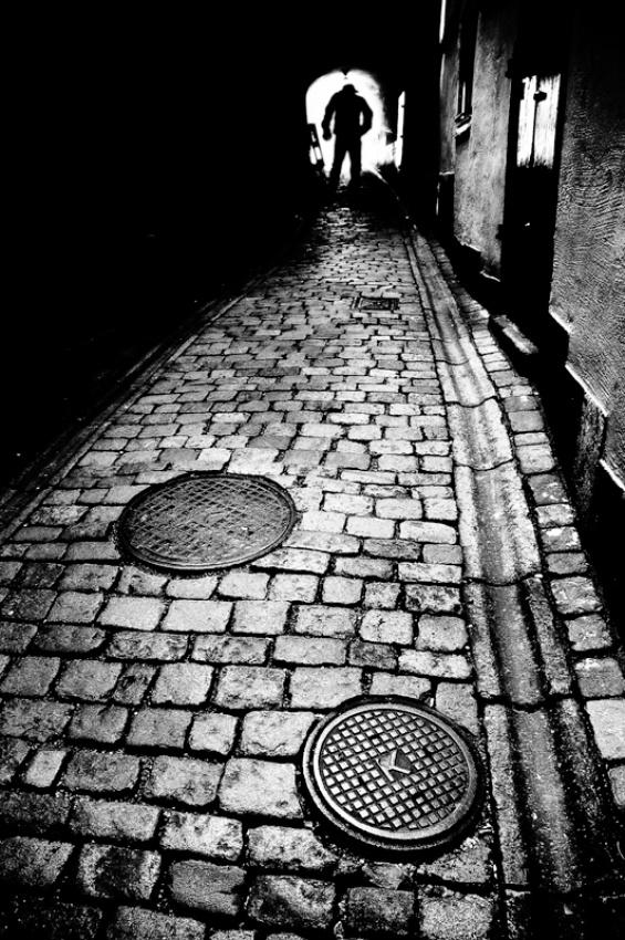 A piece of fine art art photography titled Cobblestoned Street by Mikael Stålsäter