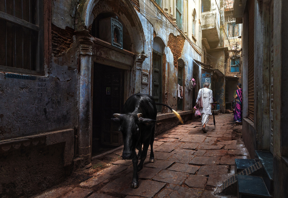 A piece of fine art art photography titled Day In Varanasi by Fadhel Almutaghawi