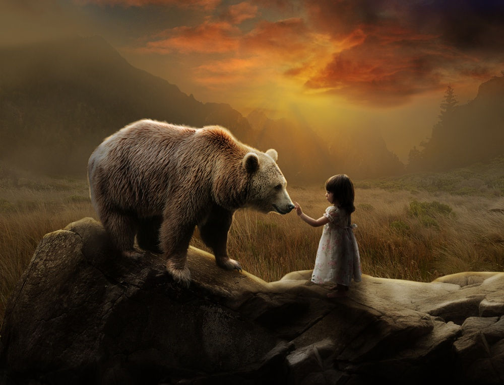 A piece of fine art art photography titled Friendship by Errys Wiskan