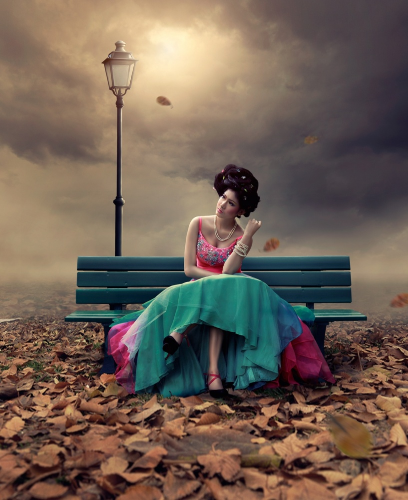 A piece of fine art art photography titled Waiting You by Errys Wiskan