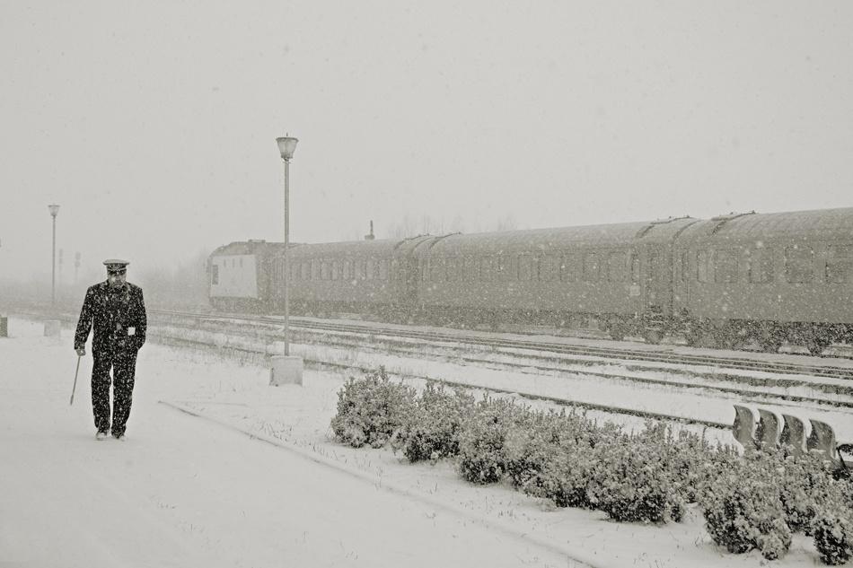 A piece of fine art art photography titled Train Station by Mihaela Gradinaru