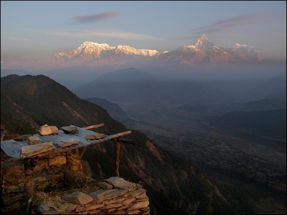 A piece of fine art art photography titled Himalaya Range by sensorfleck