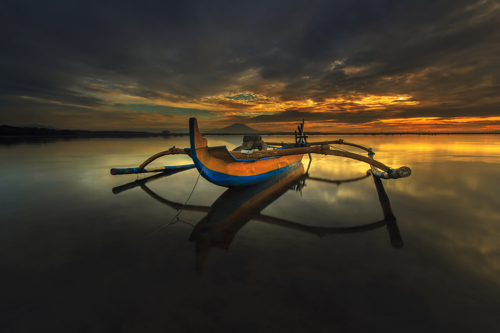 A piece of fine art art photography titled Lonely In Serenity by Ocky Ochtavian Watulingas