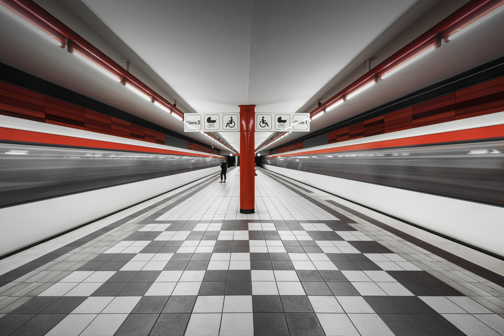 A piece of fine art art photography titled Metro Station Wartenau by Alexander Schönberg
