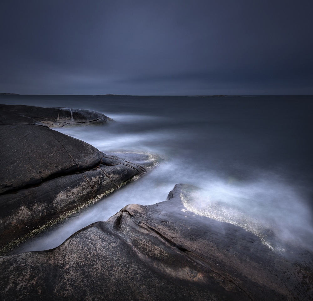 A piece of fine art art photography titled A Little While After Sunset by Claes Thorberntsson