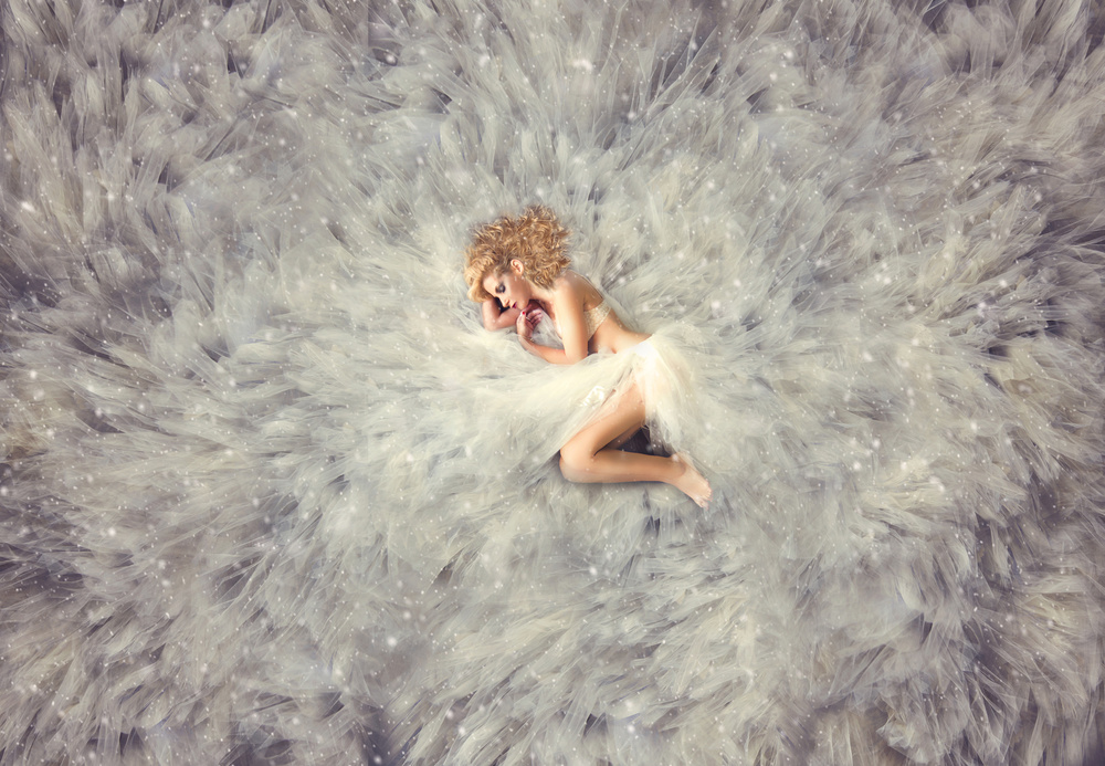A piece of fine art art photography titled Hush Little Babe by Carmit Rozenzvig