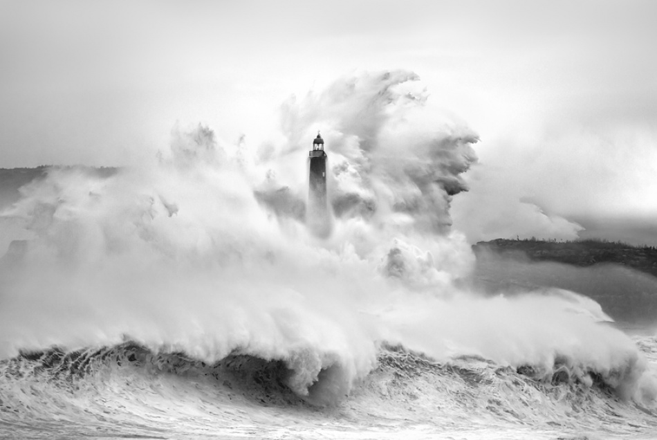 A piece of fine art art photography titled My LightHouse by Marina Cano