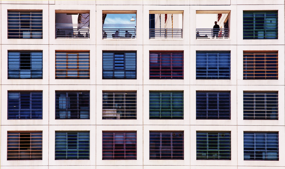 A piece of fine art art photography titled Colorful Building by Ayse  Yorgancilar