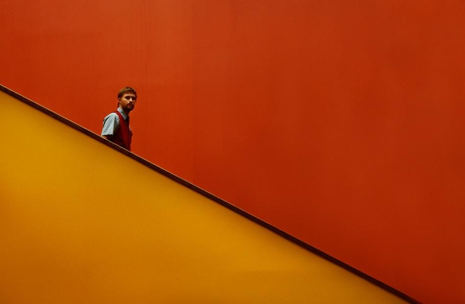 A piece of fine art art photography titled CinemaWorker by Marcus Bj [ Ö ] rkman