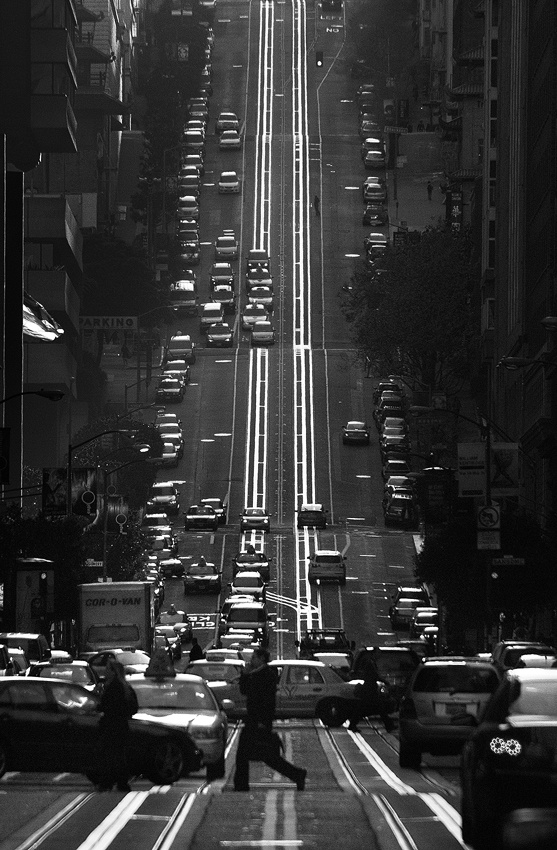 A piece of fine art art photography titled California Street, San Francisco by Joseph Dannels