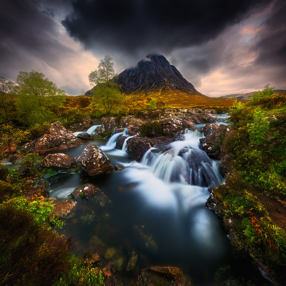 A piece of fine art art photography titled Buachaille Etive Mor by Krzysztof Browko